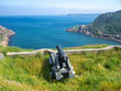 Old cannon pointing towards Atlantic ocean on Signal Hill in St. John's, Newfoundland, Canada