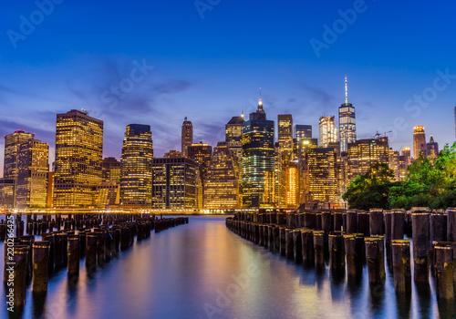 Foto Murales New York City Skyline and Piers