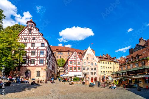 Leinwanddruck Bild Nürnberg, Beim Tiergärtnertor, Kaiserburg