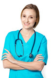 Diverse and empowered nurse ready for work. - 220304464