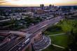 Aerial of New Brunswick Sunset