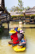 Leinwanddruck Bild - Floating Market in Pattaya