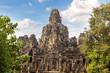 Leinwanddruck Bild - Bayon temple in Angkor Wat