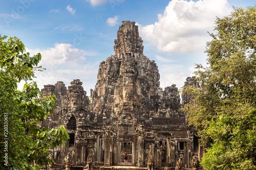 Leinwanddruck Bild Bayon temple in Angkor Wat