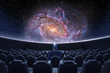 A spectacular fulldome digital projection of galaxy at the planetarium