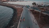 Stroll with a dron over the streets of Nessebar - 220348469