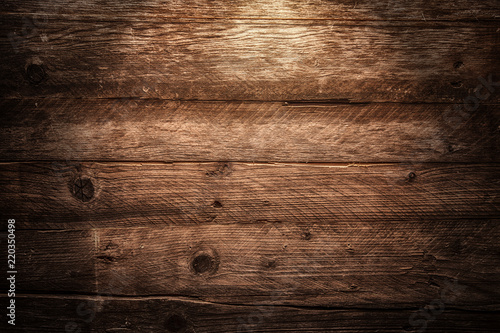 brown wooden background - 220350498