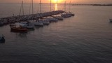 Amazing sunset at the port in Vada, Italy - 220355688