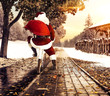 Red old Santa Claus and winter time  - 220357211