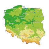 Poland physical map