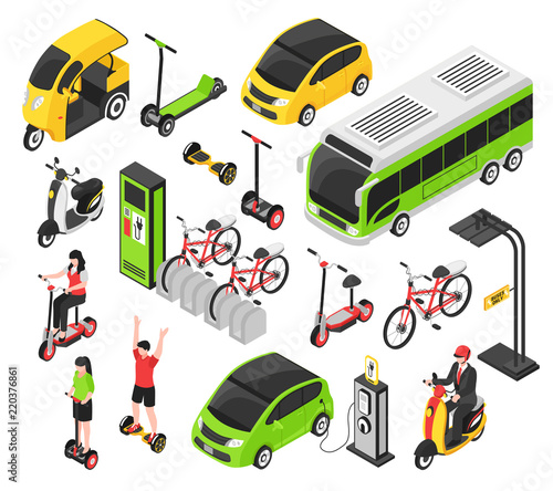 Eco Transport Isometric Set - 220376861