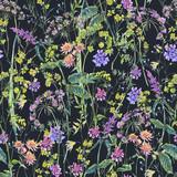 Watercolor summer wildflowers seamless pattern - 220381076