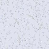 Watercolor summer seamless pattern of blue wildflowers - 220381401