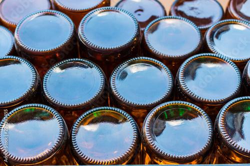 Beer bottles of brown glass © fullmoonnarak