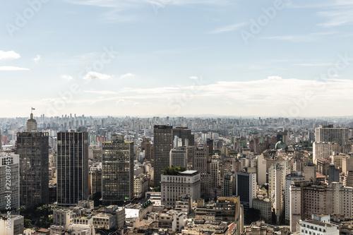 Fototapeta samoprzylepna Aerial view of Sao Paulo, Brazil