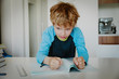 little boy hates doing homework, stress and agreession