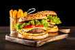 Delicious grilled burgers - 220405025