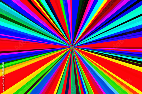 Fototapeta Hallucinogen fluorescent background of surreal colors . Abstract illusion theme. Psychedelic effect. Lsd effect.