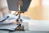 Working sewing machine closeup - 220416480