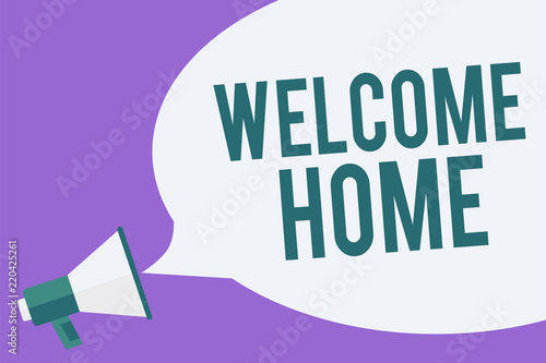 Writing note showing welcome home business photo showcasing writing note showing welcome home business photo showcasing expression greetings new owners domicile doormat entry m4hsunfo
