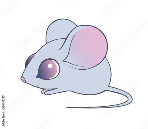 Cute mouse cartoon. Vector illustration