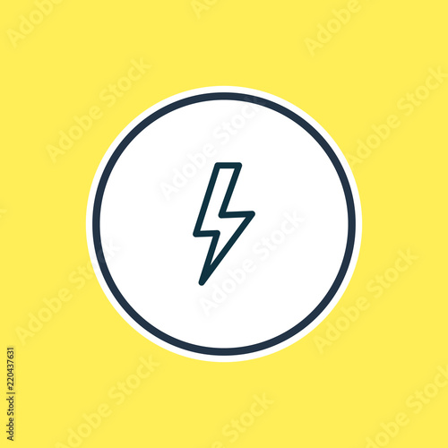 Fototapeta Vector illustration of lightning icon line. Beautiful camping element also can be used as thunder icon element.