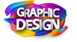 Graphic design paper poster with colorful brush strokes.