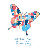 International Peace Day card for people freedom - 220455631