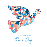 International Peace Day card for people freedom - 220455687