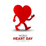 World Heart Day card for sport and health care - 220455824