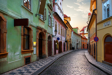 Narrow street in Prague