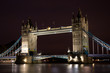 Tower Bridge at night, London, United Kingdom