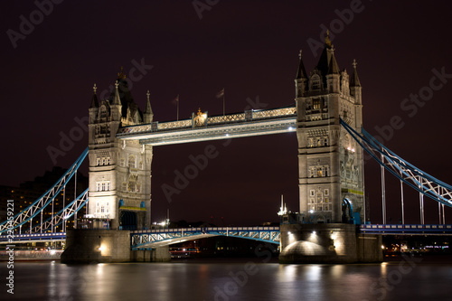 Tower Bridge at night, London, United Kingdom - 220459221