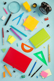 school accessories at abstract background - 220484878