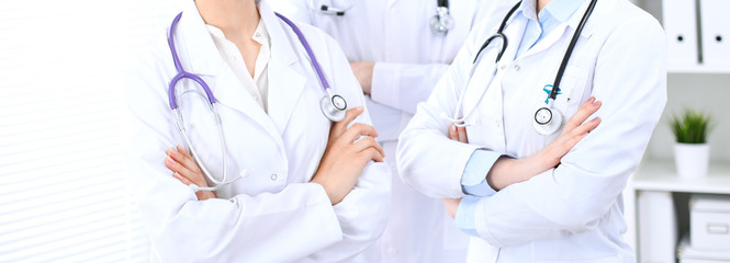 Group of unknown doctors at hospital. Teamwork and success concept in medicine © rogerphoto