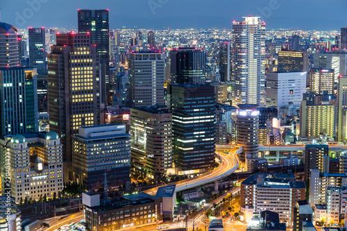 Osaka city urban city at night - 220488423