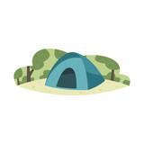 Camping illustration vector - 220495620