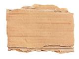 Morceau de carton ondulé déchiré - 220503808