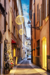 Night narrow street in Parma, Emilia-Romagna, Italy © iryna1