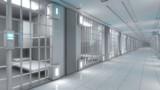 3d render. Futuristic jail corridor - 220507465