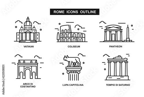 icon Rzym płaska