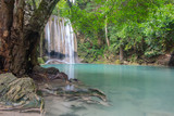 Erawan waterfall is a large and beautiful on the banks of Kwai Yai river, it is located in Si sawat District, Kanchanaburi province, Thailand.