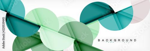 Nowożytny geometrical abstrakcjonistyczny tło - okręgi. Szablon projektu prezentacji biznesowych lub technologii, broszury lub ulotki wzór lub baner geometryczny geometryczne