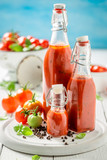 Homemade and tasty ketchup prepared from tomatoes - 220553627