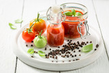 Natural and healthy ketchup prepared from tomatoes - 220553668