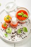 Homemade and tasty passata made of tomatoes - 220553690