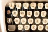 Close up of retro style typewriter in studio - 220554610