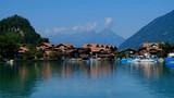Summer Switzerland landscape. Brienz lake near Isetwald village - 220574631