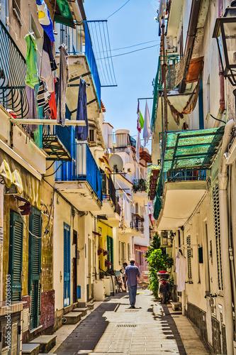 narrow alley of Ischia - 220583063