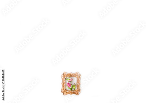 background with roses in frame (one frame)
